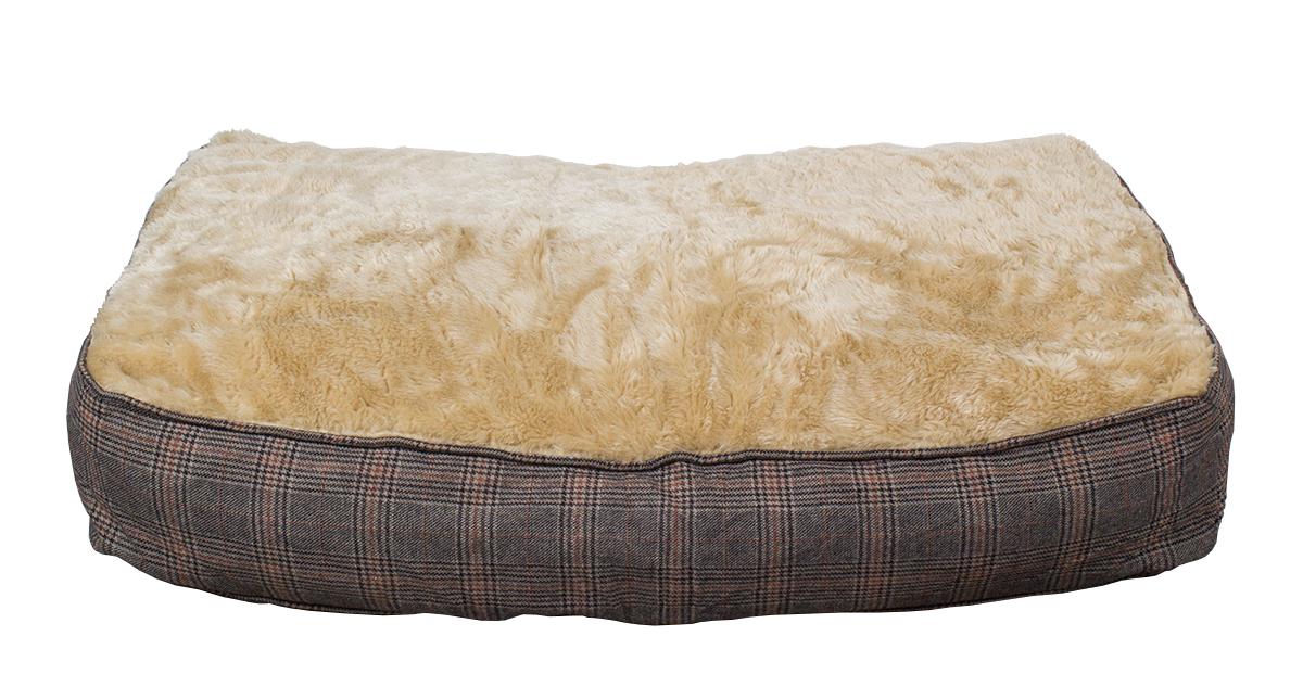 Hundekissen XL extra dick, Tweed-Optik, 100x70 cm