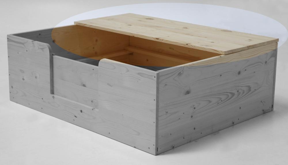 Halber Deckel 140 x 60 cm für Wurfkiste Sonderserie (Wurfkiste nicht im Lieferumfang enthalten)