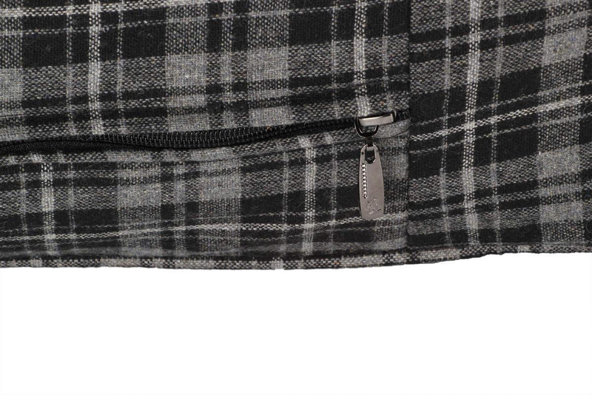 Hundekissen XXL extra dick, 120x85 cm, grau/schwarz