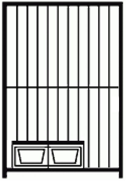 Preisstar Hundezwinger Rohrstabelement mit Futterset, 1,84 x 1,0 m | Rohrabstand 8 cm