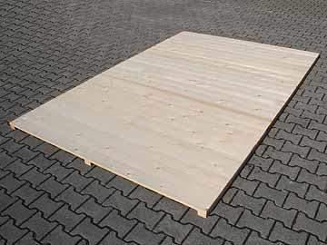 Holzboden für Hundezwinger, unbehandelt  2,0 x 6,0 m