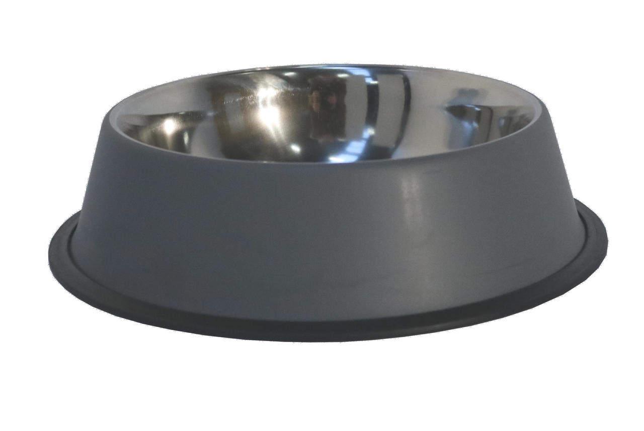 Edelstahl-Wassernapf / -Futternapf ca. 1,8 Liter, Größe XL, grau-matt